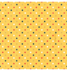 Seamless polka dots colorful vector
