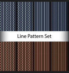 set line seamless pattern background vector image