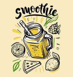 sketch natural smoothie vector image