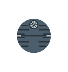 space station colored icon element of space vector image