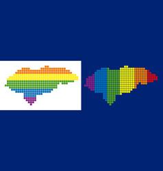 Spectrum pixel dotted honduras map vector