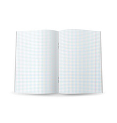 Squared notebook paper realistic 3d mock vector