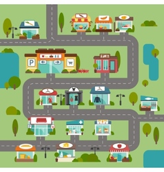 Store Building Road vector image