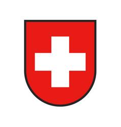 Switzerland coat arms swiss confederation flag vector