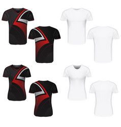 t-shirt clothes on white background vector image