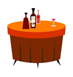 The bottles on the table vector