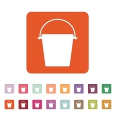 The bucket icon Pail and bucketful symbol Flat vector image