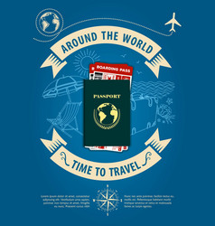 time to travel banner or poster vector image