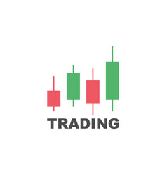 trading graphic investment line flat design and vector image