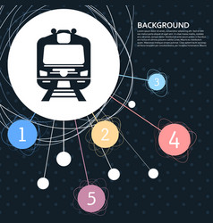 train icon with the background to the point and vector image