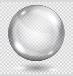 Transparent gray sphere vector