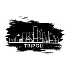 Tripoli libya city skyline silhouette hand drawn vector