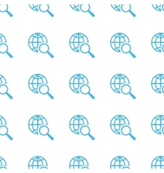 Unique World scan seamless pattern vector