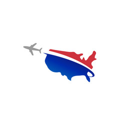 United states flight airplane logo vector