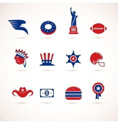 USA - collection of icons vector