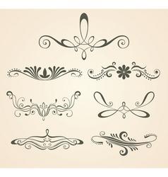 vintage scrolls design eleme vector image