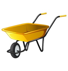 Wheel barrow vector image