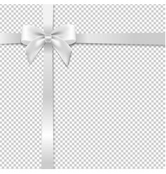 White bow with transparent background vector