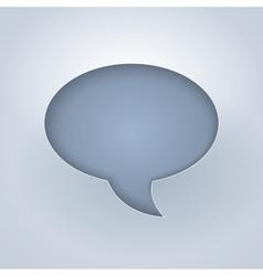 White paper cut chat bubble symbol vector image
