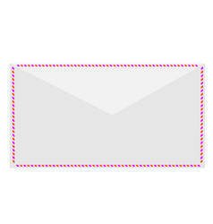 white postal envelope vector image