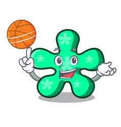 With basketball free form character cartoon vector