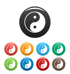 ying yang symbol of harmony and balance vector image