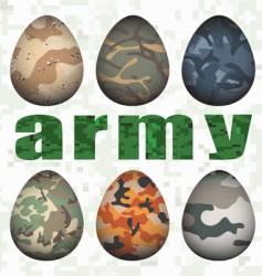 army eggs vector image vector image