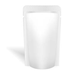 Blank white bag packaging for liquids drink or vector image vector image