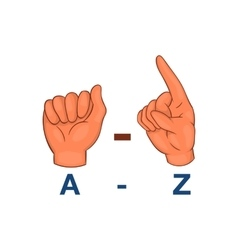 Language hand sign icon cartoon style vector image