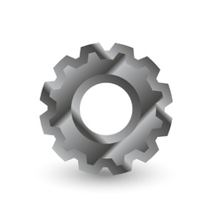 metal gear with shadow vector image vector image