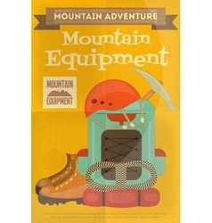 Mountains equipment vector