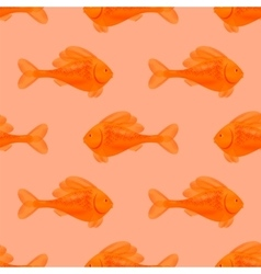 Seamless Orange Fish Pattern vector image vector image