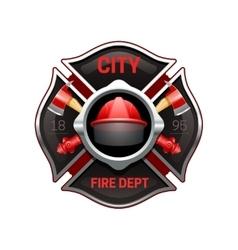 Fire Department Emblem Realistic Image vector image vector image