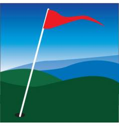 golf flag vector image vector image