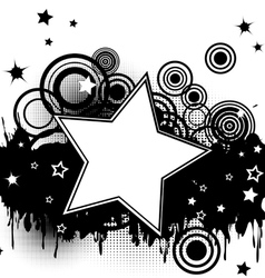Grunge splash background vector image