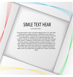 paper design with text vector image vector image