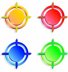set of color buttons vector image