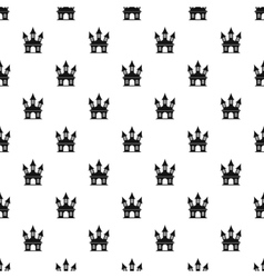Witch castle pattern simple style vector image