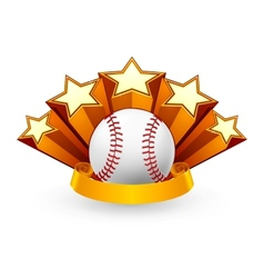Baseball Emblem vector image vector image