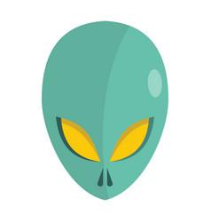 cartoon flat alien head isolated on white vector image
