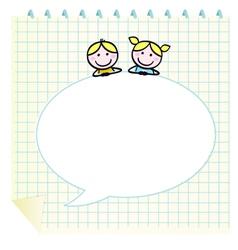 doodle school children vector image