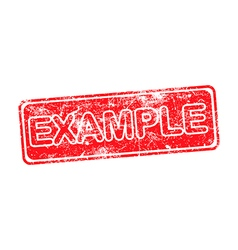 example red grunge rubber stamp vector image vector image
