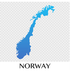 Norway map in europe continent design vector