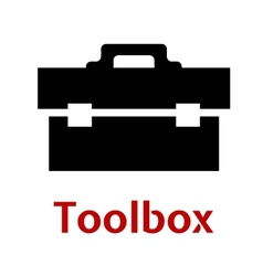 Toolbox black icon isolated on white background vector image