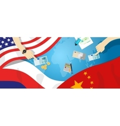 America usa russia china relation international vector
