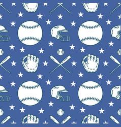 baseball softball sport game seamless vector image vector image