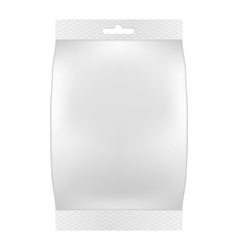 Blank white bag packaging for wipes tissues or vector image vector image