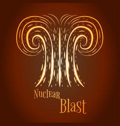 cartoon nuclear blast vector image