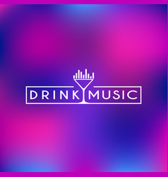 drink and music logo vector image vector image
