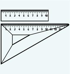 Rulers in millimeters vector image